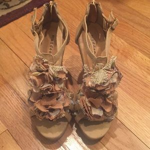 Madden Girl cork wedge sandals-never used